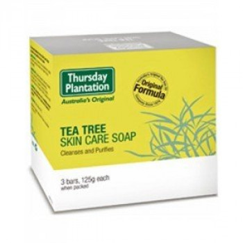 Thursday Plantation Tea Tree Skin Care Soap 125g x 3 Bars