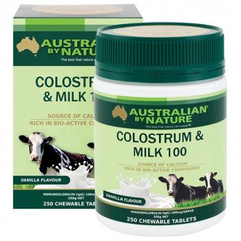 Australian by Nature Colostrum Milk 250 Chewable Tablets