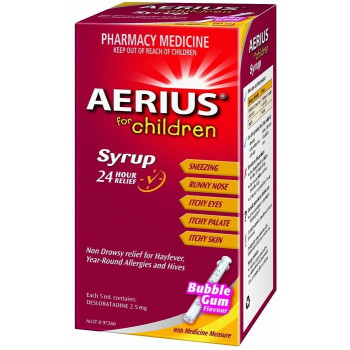 Aerius Syrup 100ml Children's 24 Hour Allergy Relief