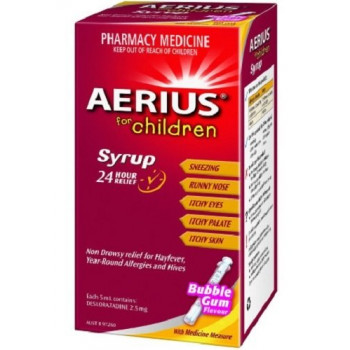 Aerius Syrup 60ml Children's 24 Hour Allergy Relief