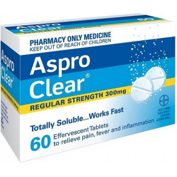Aspro Clear Regular Strength 60 Tablets