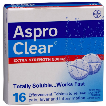 Aspro Clear Extra Strength 16 Soluble Tablets
