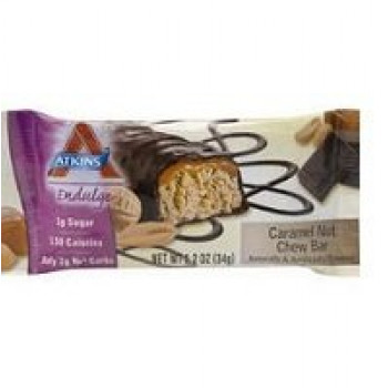 Atkins Endulge Caramel Nut Chew  Bar 15X34g
