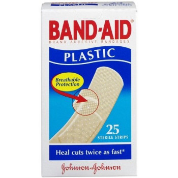 Band-Aid Plastic Strips 25 Pack