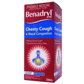 Benadryl PE Chesty Cough And Nasal Decongestant 200Ml