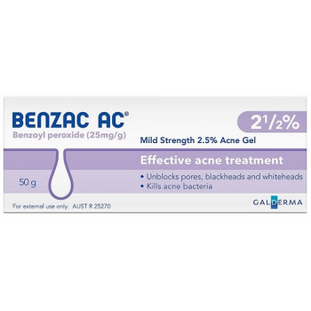 Benzac Ac Gel 2.5% 50Gm
