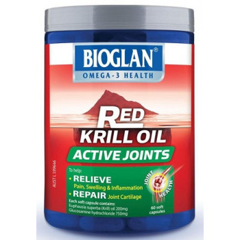 Bioglan Red Krill Oil Active Joints 60 Capsules