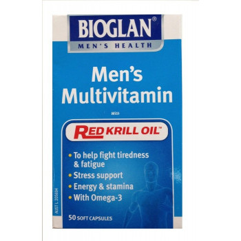 Bioglan Men's Multivitamin with Red Krill Oil 50 Caps