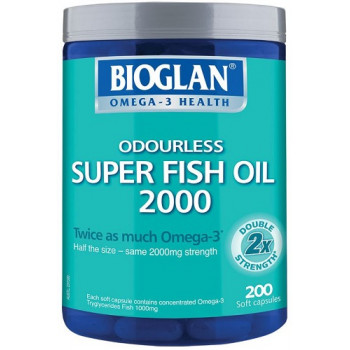 Bioglan Odourless Super Fish Oil 2000mg 200 Caps