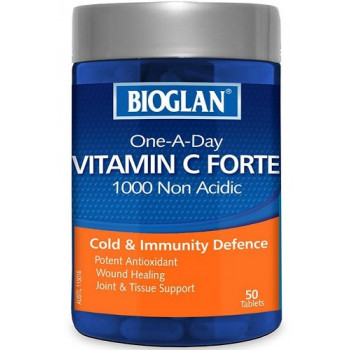 Bioglan One A Day Vitamin C Forte 1000 Non Acidic - 50 Tablets