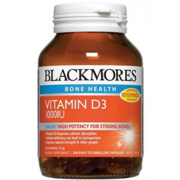 Blackmores Vitamin D3 1000Iu  200 Caps * New Economy Pack *