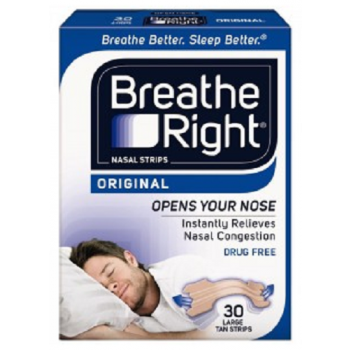 Breathe Right Nasal Strips Tan Large 30