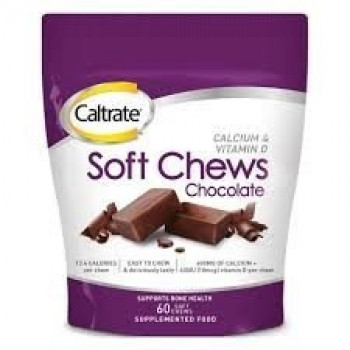 Caltrate Soft Chews Chocolate 60 chews