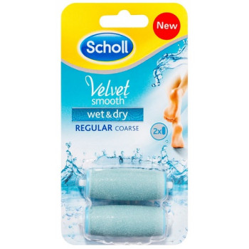 Scholl Velvet Smooth Wet & Dry Roller Heads 2 Pack