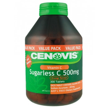 Cenovis Sugarless C 500mg Orange Flavour Tabs  Value Pack 300