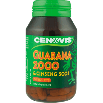 Cenovis Guarana 2000 & Ginseng 500mg 60 caps