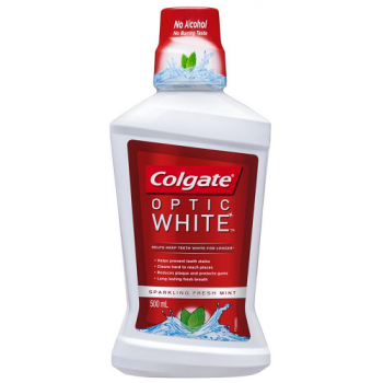 Colgate Optic White Mouthwash 500mL
