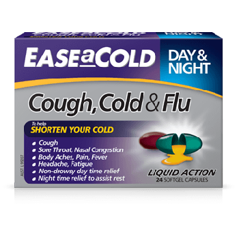 Ease A Cold Cough, Cold & Flu Day & Night 24 Liquid Cap