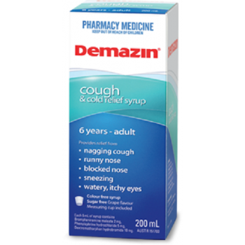 Demazin Cough & Cold Relief Syrup 200mL
