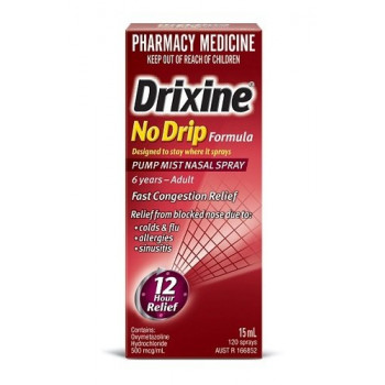 Drixine No Drip Decongestant Nasal Spray 15ml