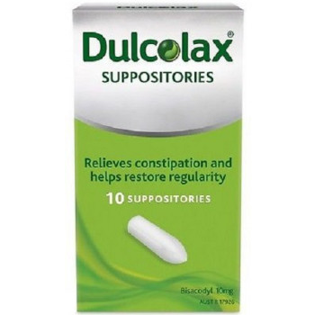 Dulcolax 10mg Suppositories 10