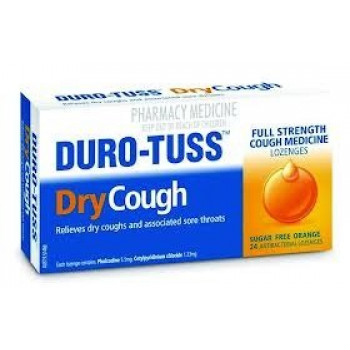 Duro-Tuss Dry Cough Lozenges Orange Flavour 24