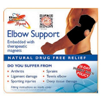 Bio Magnetic Elbow Support Black