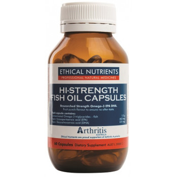 Ethical Nutrients Hi-Strength Fish Oil 60 Capsules