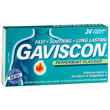 Gaviscon Tablets Peppermint 24 Tabs
