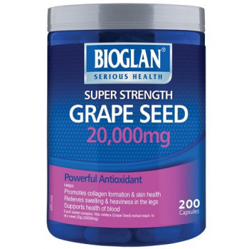 Bioglan Grape Seed 20,000mg 200 Capsules
