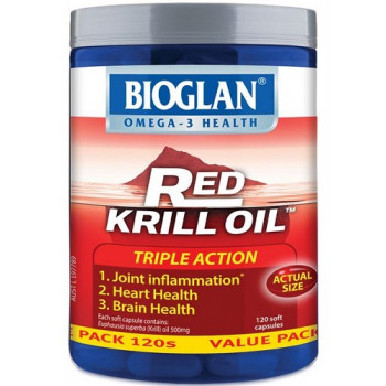 Bioglan Red Krill Oil Triple Action 500mg 120 Capsules