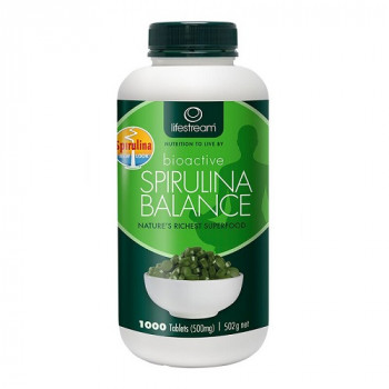 Lifestream Bioactive Spirulina Balance 500mg 1000 Tabs