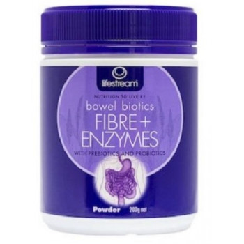 Lifestream Bowel Biotics Fibre+Enzymes 200g Powder