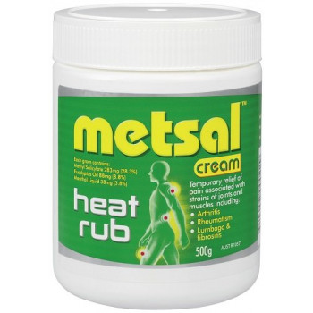 Metsal Heat Rub Cream 500g