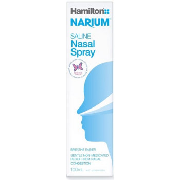 Hamilton Narium Saline Nasal Spray 100mL