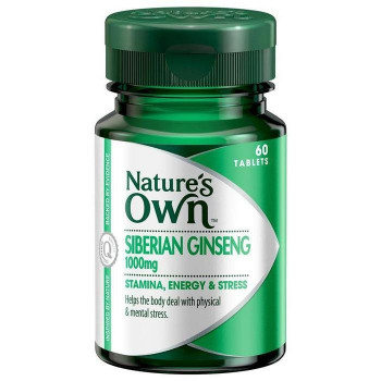 Nature's Own Siberian Ginseng 1000mg x 60
