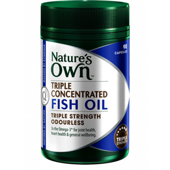 Nature's Own Triple Concentrated Fish Oil x 90 Cap