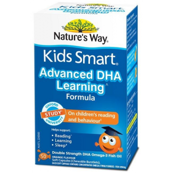 Nature's Way Kids Smart Advanced DHA Learning Formula 50 Chewable Caps