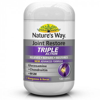 Nature's Way Joint Restore Glucosamine+Chondroitin+Msm Triple Action 120Tab