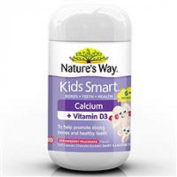 Nature's Way Kids Calcium + Vitamin D3 Strawberry Milkshake 50