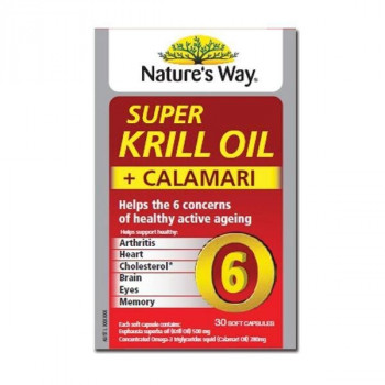 Nature's Way Super Krill Oil plus Calamari 30 Capsules
