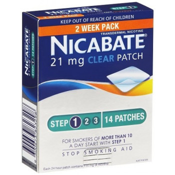 Nicabate Cq Clear 21Mg Patches 2 Weeks - 14 Patches