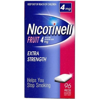 NICOTINELL GUM FRUIT 4MG 96 TABS