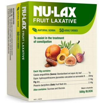 Nulax Fruit Laxative Block 500g