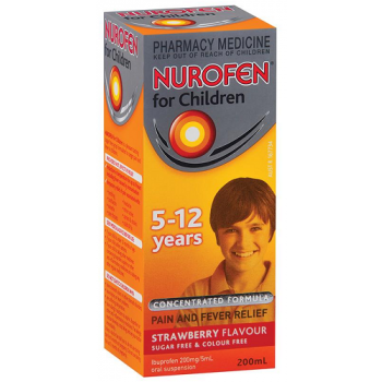Nurofen Children 5-12 years Strawberry Flavour 200ml
