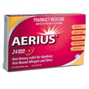 Aerius 5Mg for 24 hour allergy Relief x30