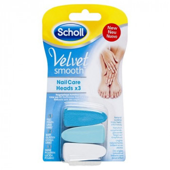 Scholl Velvet Smooth Electric Nail Care Refill X3 pack