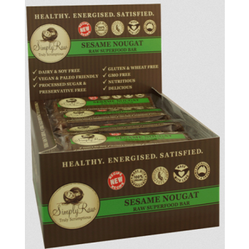 Simply Raw Sesame Nougat Raw Superfood Bar 20 x 50g