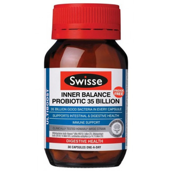 Swisse Inner Balance Probiotic 35 Billion 30 Capsules