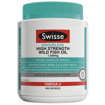 Swisse Odourless High Strength Wild Fish Oil 400 Caps